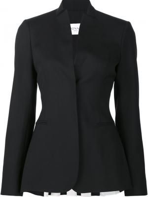 Приталенный пиджак с плиссировкой сзади Vionnet. Цвет: чёрный