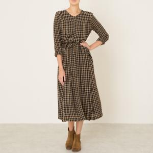 Платье длинное LOTUS LAURENCE BRAS. Цвет: черный/ бежевый