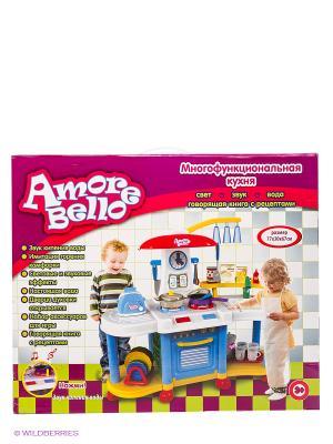 Кухня Amore Bello. Цвет: синий, красный, желтый, белый