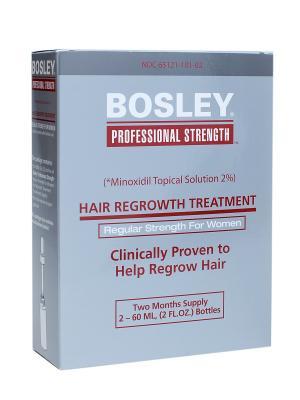 Усилитель роста волос для женщин Bosley. Цвет: серебристый