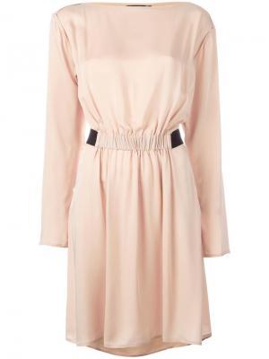 Платье с длинными рукавами Theory. Цвет: телесный
