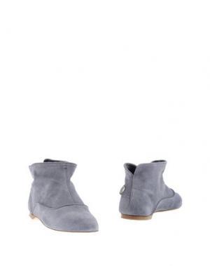 Полусапоги и высокие ботинки ALBERTO FASCIANI. Цвет: грифельно-синий
