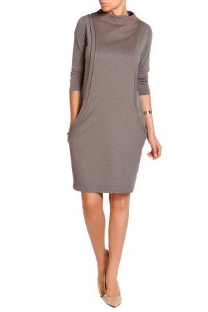 Платье LEIDIRO. Цвет: серо-коричневый
