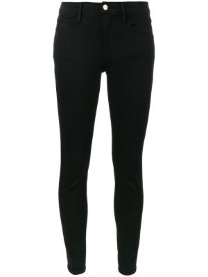 Укороченные джинсы Le Color Frame Denim. Цвет: чёрный