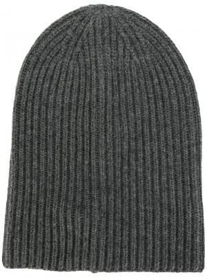 Classic knitted beanie Dondup. Цвет: серый