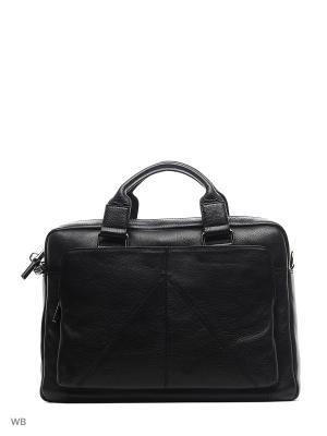 Бизнес-сумка Gianni Conti. Цвет: черный