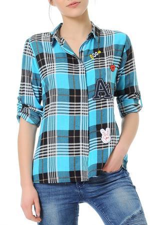 Рубашка Dewberry. Цвет: голубой