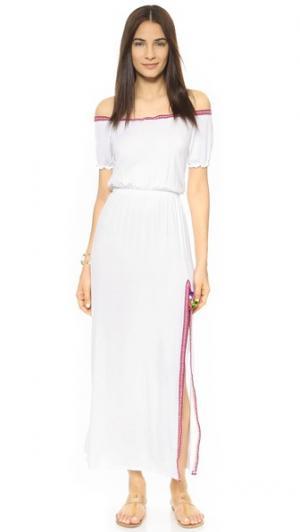 Макси-платье Raquel SOLKISSED. Цвет: белый