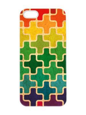 Чехол для iPhone 5/5s Пиксели Арт. IP5-011 Chocopony. Цвет: зеленый, фиолетовый, красный, оранжевый, желтый