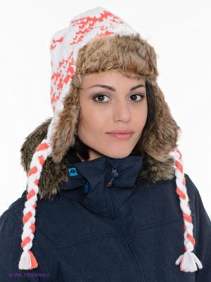 Шапка SNOW WALK ROXY. Цвет: оранжевый, белый