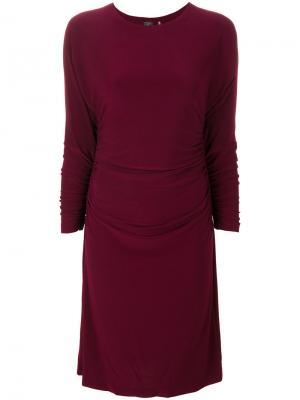 Облегающее платье со сборками Norma Kamali. Цвет: розовый и фиолетовый