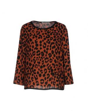 Блузка PAOLO CASALINI. Цвет: коричневый