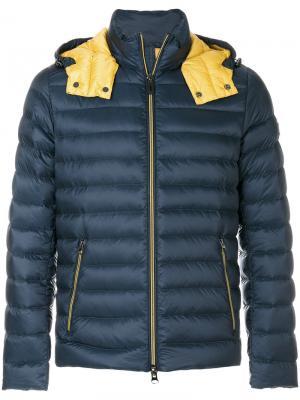 Пуховая куртка с капюшоном Hetregò. Цвет: синий