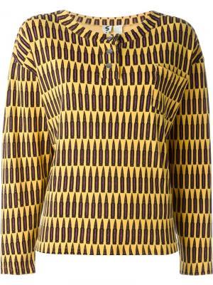 Свитер с принтом Stephen Sprouse Vintage. Цвет: жёлтый и оранжевый