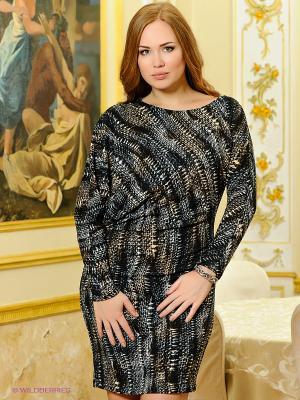 Платье МадаМ Т. Цвет: черный, антрацитовый, коричневый