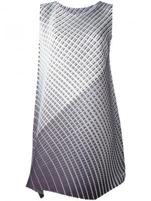 Striped dress Pleats Please By Issey Miyake. Цвет: чёрный