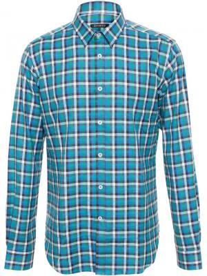 Рубашка в клетку Browns. Цвет: синий