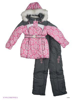 Комплект для девочки Rusland. Цвет: серый