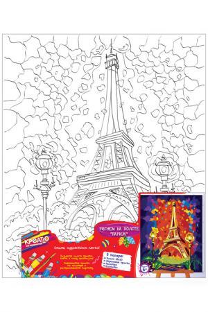 Роспись по холсту Париж Креатто. Цвет: красный