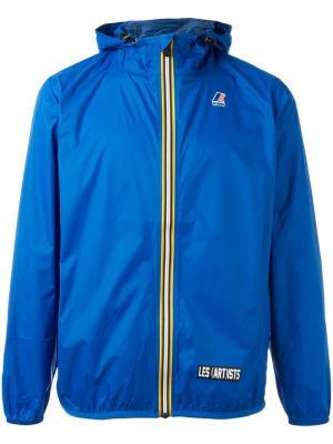 Куртка с логотипом K-Way X Les (Art)Ists. Цвет: синий
