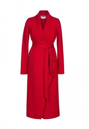Пальто Bella Kareema. Цвет: красный