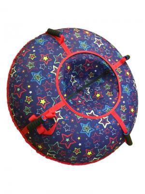 Санки-ватрушка (тюбинг) 110 см Орнамент Звезды SPORTREST. Цвет: темно-фиолетовый, антрацитовый