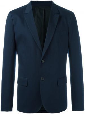 Lined 2 button jacket Ami Alexandre Mattiussi. Цвет: синий