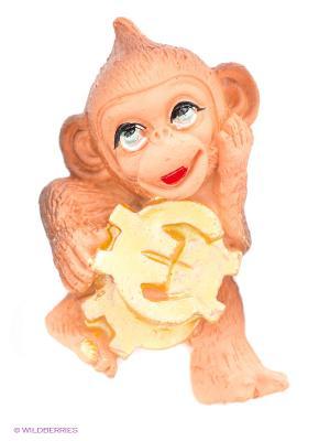Сув.Обезьянка с деньгами Пуффи. Цвет: коричневый