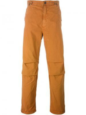 Брюки свободного кроя с вышивкой Maharishi. Цвет: жёлтый и оранжевый