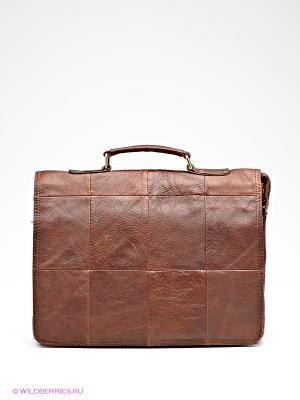Портфель Pola. Цвет: коричневый