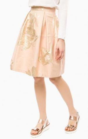Пышная юбка кораллового цвета THINK CHIC. Цвет: коралловый