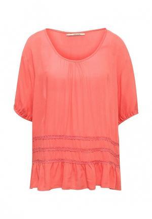 Блуза Vis-a-Vis. Цвет: коралловый