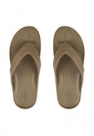 Сланцы Crocs. Цвет: коричневый