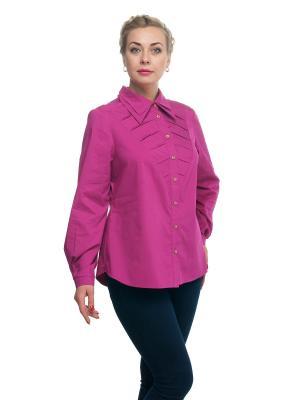 Блузка OLSI. Цвет: розовый
