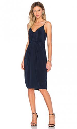 Платье silk folded Zimmermann. Цвет: синий