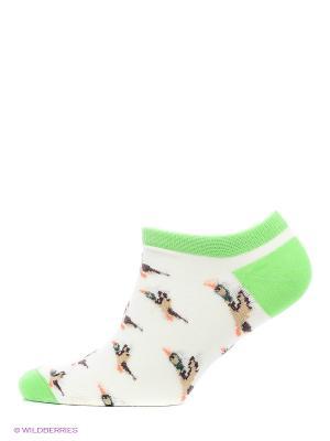 Носки Запорожец Дичь короткие. Цвет: коричневый, молочный