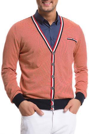 Кардиган U.S. Polo Assn.. Цвет: оранжевый