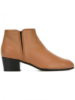 Ботинки-челси на низком каблуке Giuseppe Zanotti Design. Цвет: коричневый