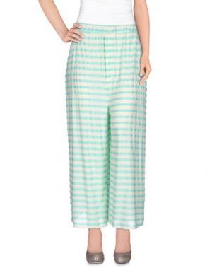 Повседневные брюки GUTTHA. Цвет: светло-зеленый