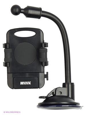 Держатель телефона/смартфона с кнопкой фиксации зажима HT-WIIIX-01Ngt на длинной штанге WIIIX. Цвет: черный