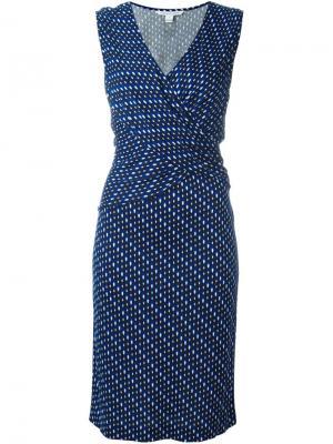 Платье с запахом без рукавов Diane Von Furstenberg. Цвет: синий