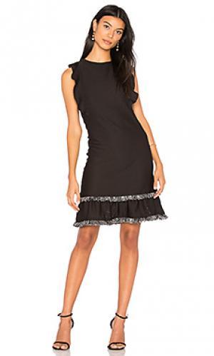 Платье со сборками method twenty. Цвет: черный