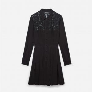 Платье со складками THE KOOPLES. Цвет: черный