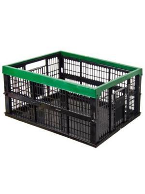 Ящик складной полипропиленовый 38л, 48x35x23см Ермак. Цвет: зеленый