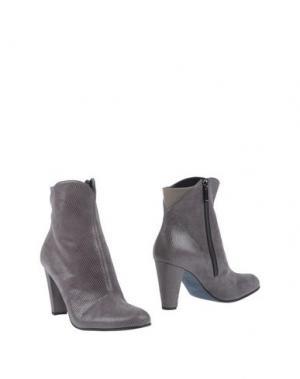 Полусапоги и высокие ботинки THIERRY RABOTIN. Цвет: серый