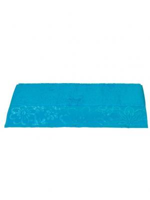 Махровое полотенце 70x140 DORA бирюзовое,100% хлопок HOBBY HOME COLLECTION. Цвет: бирюзовый