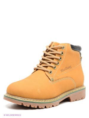 Ботинки Shoiberg. Цвет: бежевый