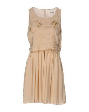 Короткое платье FAIRLY. Цвет: бежевый