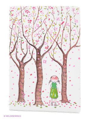 Обложка для паспорта Цветущие яблони Mitya Veselkov. Цвет: белый, розовый