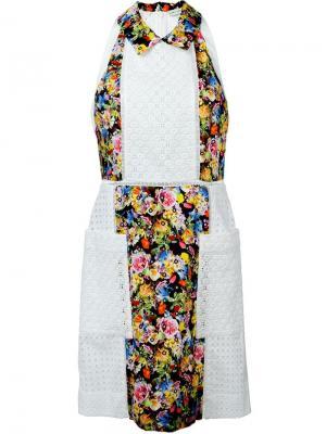 Платье Amblie с цветочным принтом Mary Katrantzou. Цвет: белый